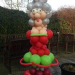 levensgrote Sarah van ballonnen