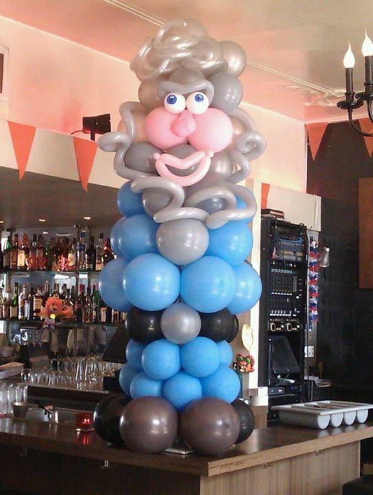 Abraham van ballonnen met piekhaar