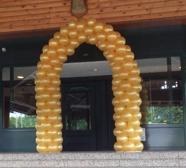 Gouden ballonnenboog