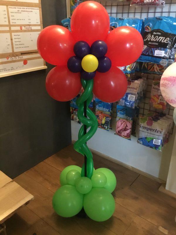 bloempilaar fuchsia ballonnen