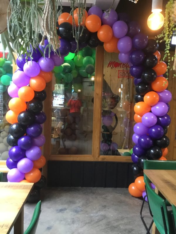 vierkleurenboog ballondecoratie workshop 2021