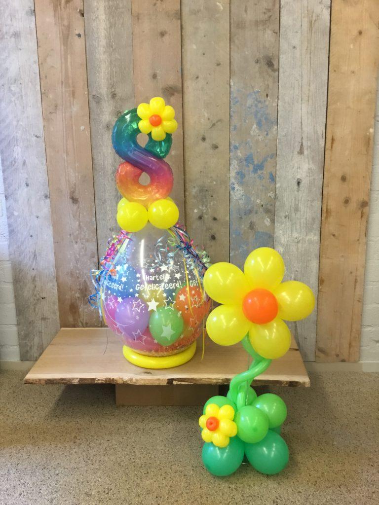 ballon stuffer en bloemetje