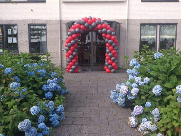 ballonnenboog rood en antraciet