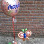 heliumballon met vlinder