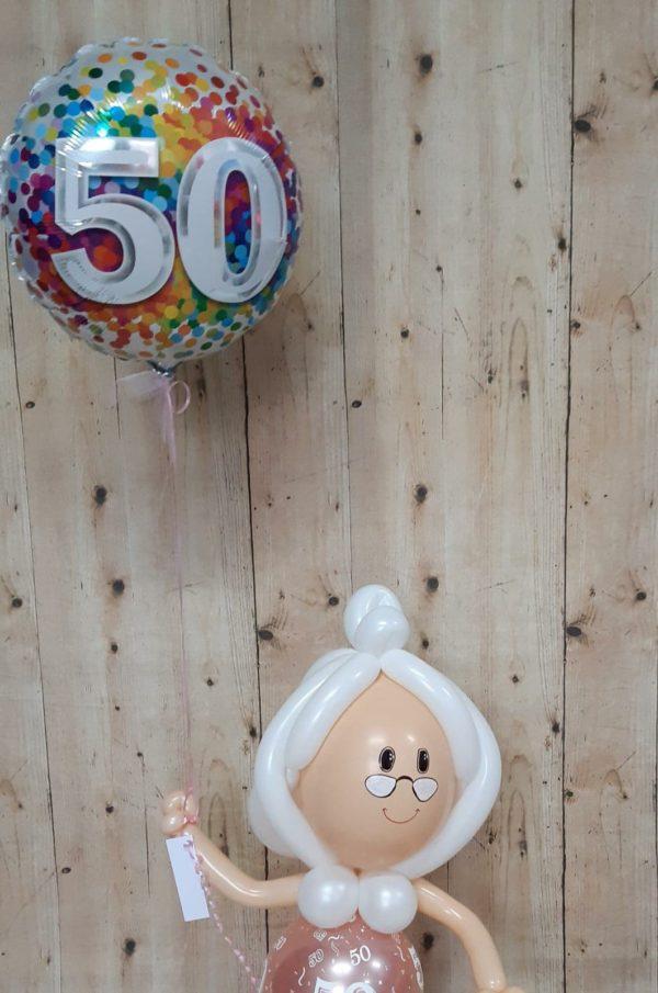 Sarah met folieballon